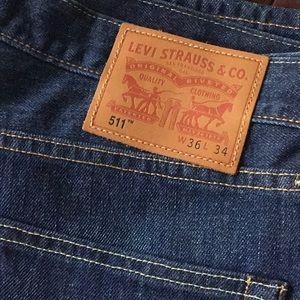 USA Made Levi's 511 36 x 34 Jeans